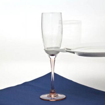 Teller-Clip, für Wein- oder Sektglas
