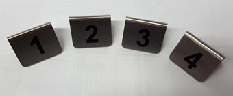 Tischnummernschilder