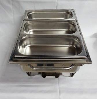 Chafing Dish, 3 Einsätze 1/3 GN