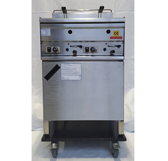 Friteuse, Gas-Doppelfriteuse, 2 x 8 l