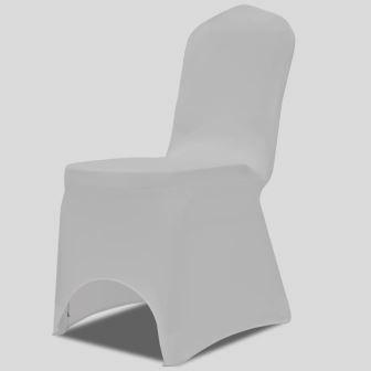 Stuhlhusse, weiß